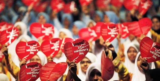 Anti Valentine day protest