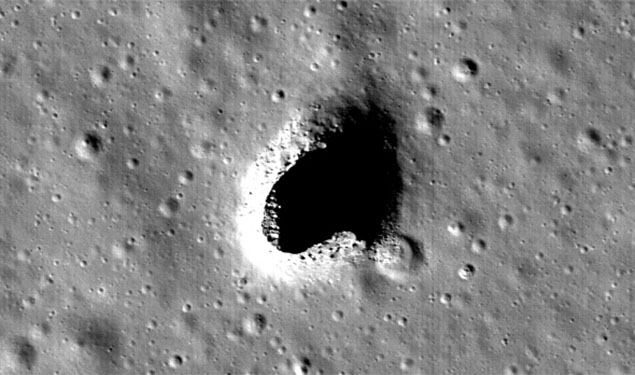Cave on Moon
