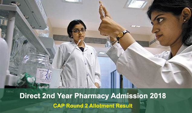 ffc57f50513 Steps to check Direct 2nd Year Pharmacy Admission 2018 CAP Round 2 Result