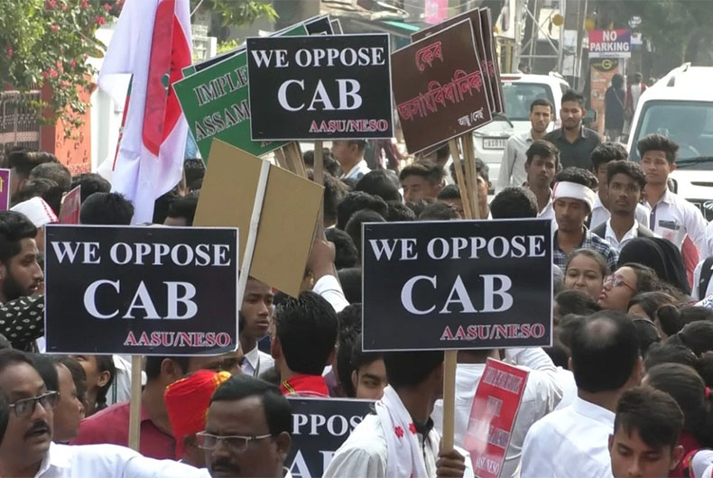 Protest over CAB, NRC