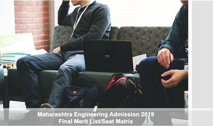 Maharashtra Engineering Admission 2019: Final Merit List
