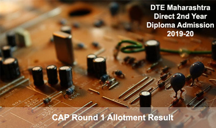 DTE Maha Direct 2nd Yr Engg Diploma 2019: CAP Round 1