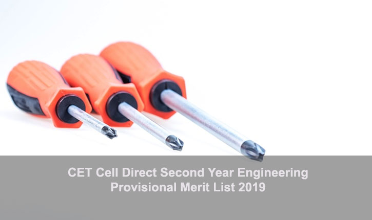 CET Cell Direct 2nd Year Engineering 2019: Provisional Merit