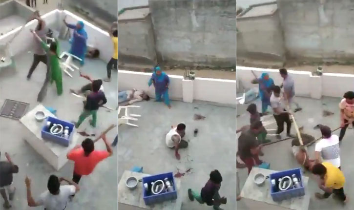 Gurgaon Muslim family beaten video