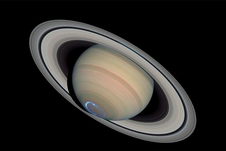Titan drifting from Saturn